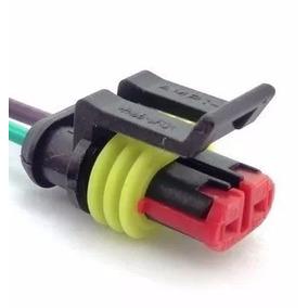 Conector Chicote 02 Vias Bico Injetor Sensor Temperatura Bob