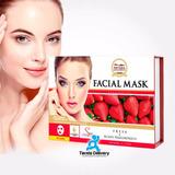 10 Mascarillas Faciales De Fresa Con Ácido Hialurónico