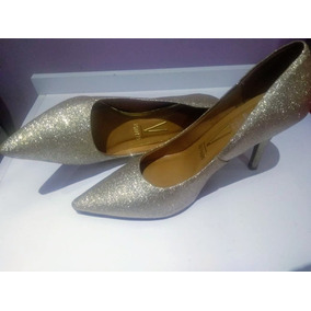 Sapato Vizzano - Dourado Com Gliter