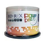 50 Discos Blu Ray Bd-r Power Disc 25 Gb 6x Logo