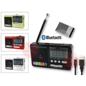 Radio Portátil Recargable Bluetooth Am Fm Usb Sd - Te1358
