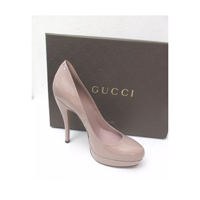 Zapato Italiano Gucci Dama Nude Charol Piel