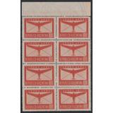 1940 Correo Aereo Gj 845 Bloque X 8 Gj845 Mint ! U$96