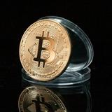 Bitcoin Moneda Fisica De Colección Dorada Envío Gratis