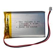 Batería Mini 3.7v 1300mah Litio Con Conector 4,8 X 3,4 Cm
