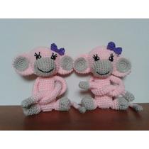 Mono Muñeco Tejido Crochet Amigurumi Sujeta Cortinas