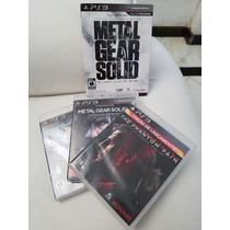 Metal Gear Solid Hd Box Edição Especial Com Encadernado.