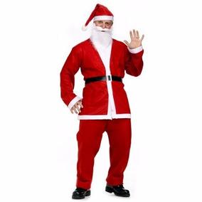 Traje De Santa Clous Funcinal Hasta La Talla Xl Navidad 5pza