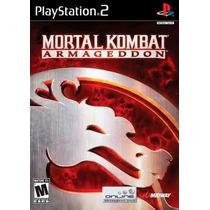 Mortal Kombat Armagedon Ps2 Patch Com Capa E Impressão