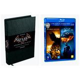 Livro Batman Arkham Knight + Bluray Batman Begins Cavaleiro