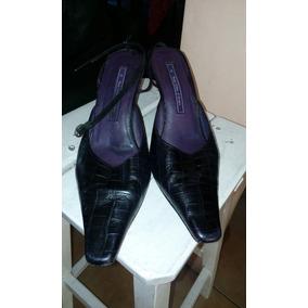 Paula Cahen Danvers Zapatos Cuero Negro