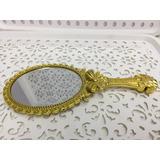 40 Espelho Mão Branca Neve Princesa Dourado Mesa Reinado
