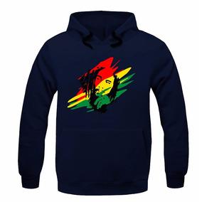 Blusa Moletom Canguru Bob Marley Reggae Frio Promoção
