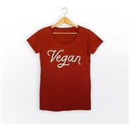 Remera  Vegan (bordó)