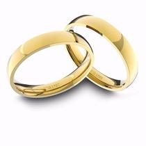 Alianças De Ouro 18k Amarelo Anatômicas (3.50 Mm De Largura)