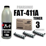 Toner Panasonic Kx-fat411a (3) Botella Recarga X 1 Kg