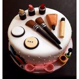 Torta Cumpleaños Diseño Make Up Decoradas Caseras A Pedido