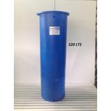 Tanque Cilindrico Plastico De 520 Lts Azul Y Blanco