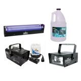 Mini Estrobo + Luz Negra + Máquina Humo Artificial + Líquido