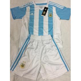 Conjunto Original Camiseta Y Short Niños Argentina - Oferta