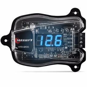Medidor De Bateria Taramps Vtr 1200 Led Azul Digital Som 12v