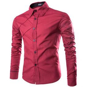 Camisa Social Masculina Slim Fit Luxo Importada Várias Cores