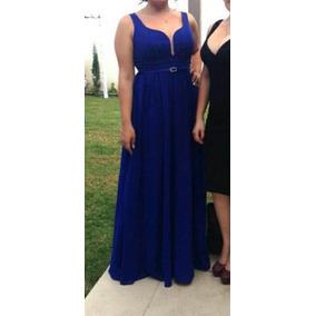 Vestido Azul Rey Seminuevo