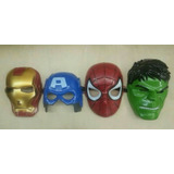 Mascaras Avengers, Capitán América, Spiderman, Hulk, Iroman