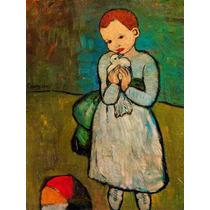 Picasso , Niña Con Paloma, Oleo, Replica Por Encargo .