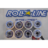 Ruedas Roll Line Giotto 57 Mm X 8 + 16 Rulemanes 627 Hch