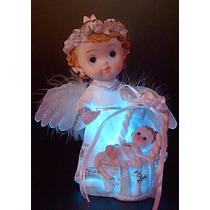 Angel De La Guarda Con Luz Baby Shower Bautismo Souvenir