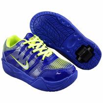 Tênis Estica E Puxa Com Rodinha Da Nike Infantil