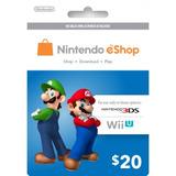 Nintendo Eshop 20 Usd - Usa