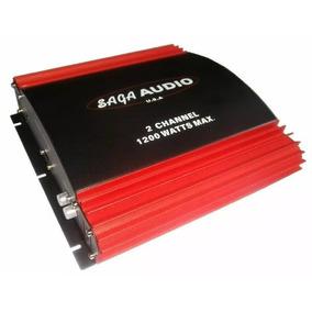 Planta Carro Amplificador Sonido Medios Saga 1200w 2 Canales