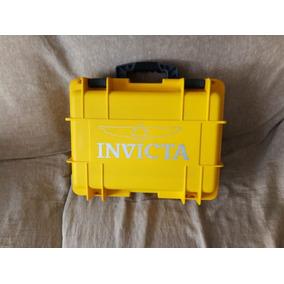 Caixa Maleta Invicta Amarela De 08 Relógios. Leia O Anúncio.