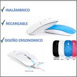 Mouse Inalámbrico Recargable Por Usb Ergonómico