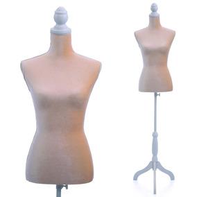 Maniqui Torso Femenino- Color Beige O Nude- Tripod Ajustable