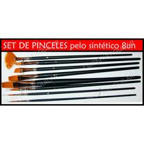 Set De Pinceles Artisticos P/ Acrílico Oleo Tempera Acuarela