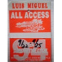 Luis Miguel Gafete Staff Tour All Access Backstage Pass Dyno