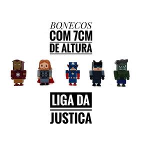 Kit Bonecos Similar Lego Liga Da Justiça Frete Grátis