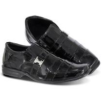 Sapato Social Infantil Masculino Couro Legitimo Liquidação