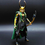 Boneco Action Figure Loki Marvel Vingadores Filme Thor 16 Cm
