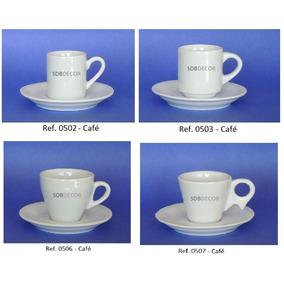 Xícara De Café Com Pires - Porcelana Branca - Caixa Com 6 Un