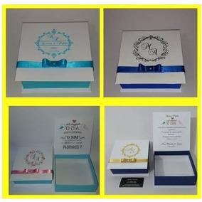 Caixa Convite Pagem, Dama, Padrinho 14x14x4,5 Com 10 Caixas