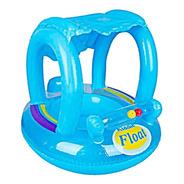 Bote Flotador Inflable Techo Azul Niña Para Bebé Piscina