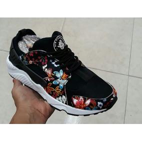 Nike Huarache Flores Negro Envio Gratis