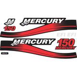 Adesivo Motor De Popa Mercury 150 Hp Efi Vermelho