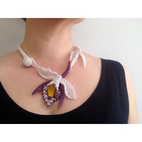 Maxi Colar Orquídea