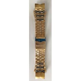Pulseira Relógio Invicta Zeus Bolt Aço Dourada Detalhe Azul