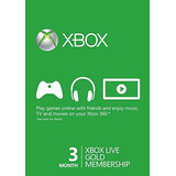 Microsoft Xbox Live 3 Meses Gold (tarjeta Física)